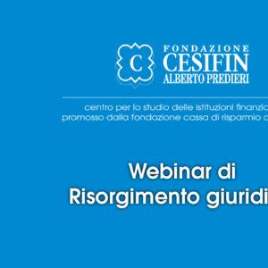 webinar di Risorgimento giuridico
